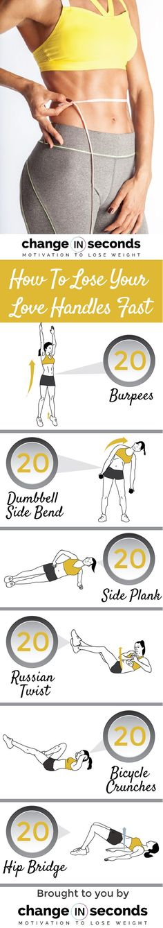 Tighten your waistline and shrink those love handles with these super effective moves. Its time to give your love handles the boot and say hello to a sexy obliques with this workout. Your love hand…