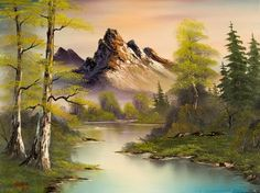 bob ross paintings for sale | ... painting 86093 - bob ross mountain splendor paintings for sale: