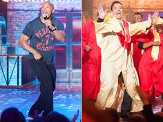 """Haters gonna hate! The epic, star-studded premiere of Spike's Lip Sync Battle featured two epic performances from some of the most likable celebrities around: Dwayne """"The Rock"""" Johnson and Jimmy Fallon, who pretended to be Taylor Swift and Madonna, respectively, as they competed during the first episode of the new show."""