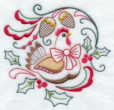 Machine Embroidery Designs at Embroidery Library! Machine Embroidery Applique, Hand Embroidery Stitches, Embroidery Techniques, Simple Embroidery, Vintage Embroidery, Lazy Daisy Stitch, Embroidered Towels, Christmas Embroidery, Drawings