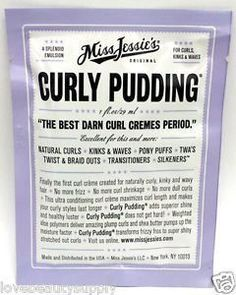 Miss Jessie's Curly Pudding Packet