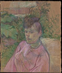Henri de Toulouse-Lautrec. Woman in the Garden of Monsieur Forest, 1889–91.