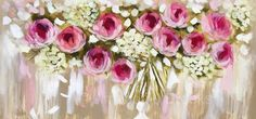 50 cm *printed on gorgeous Hahnemuhle paper using genuine archival quality inkswhite border for easy framing*signed and dated* Rolled and slipped s Acrylic Flowers, Watercolor Flowers, Abstract Flower Art, Colorful Paintings, Flower Paintings, Rose Art, Wooden Art, Small Art, Large Flowers