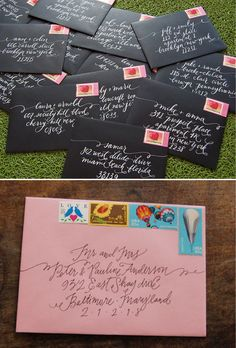 Smitten on Paper envelope calligraphy
