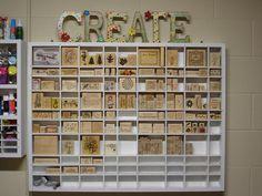 where can i buy scrapbook storage | Scraproom: My rubber stamp shelf