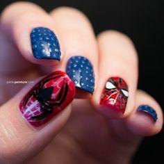 Now that's cool. Petite Peinture Spiderman Nail Art