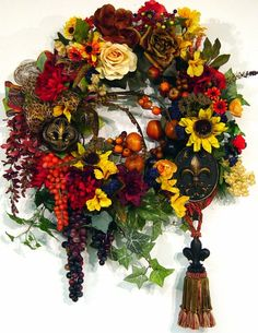 Wreath with Tuscany theme | Found on etsy.com