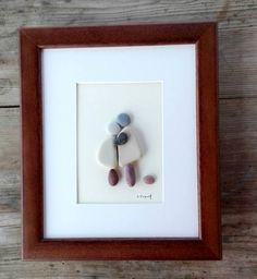Pebble art mother doughter Family pebble art by pebbleartSmiljana