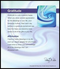 Gratitude is a very powerful healer. #grateful