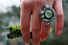 """""""There is green under the freeze""""  sterling silver and prehnite  (UmberDove via Flickr)"""