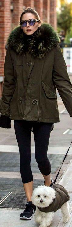Olivia Palermo: Sunglasses – Westward Leaning  Coat – Mr & Mrs. Itay  Shoes – Nike