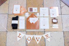 Kupfer und Blush Inspiration - ein herbstliches Styled Shooting #Papeterie #Einladungskarten