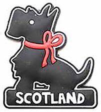 Scottish Iconic Black Scottie Dog Scotland Pu Home Kitchen Magnet