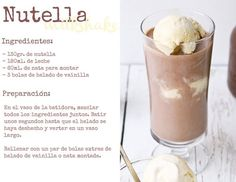 See related links to what you are looking for. Nutella Milkshake, Milkshake Recipes, Smoothie Recipes, Milkshakes, Smoothies, Yummy Drinks, Healthy Drinks, Yummy Food, Starbucks Recipes