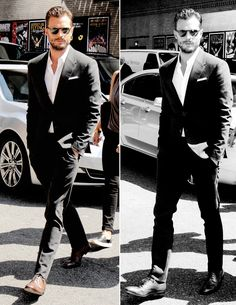 Fifty Shades Darker Jamie Dornan in New York going to the Stephen Colbert Show…
