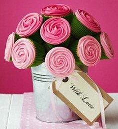 cupcake bouquet...this would be a great home made gift