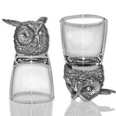 Animal Head Shot Glasses - Birds & Reptile