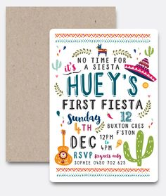 Custom design first fiesta birthday party Mexico Mexican theme kids fun unique