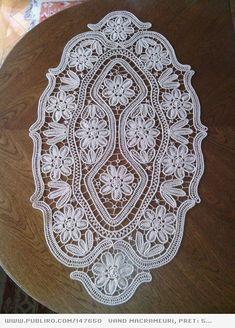 Free Crochet Doily Patterns, Macrame Patterns, Lace Patterns, Crochet Doilies, Filet Crochet, Irish Crochet, Yarn Crafts, Diy And Crafts, Fabric Stiffener