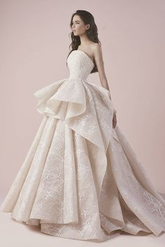 Structured Wedding Dress   Saiid Kobeisy 2018 Bridal Collection