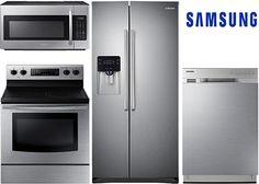 Smart Kitchen, Basic Kitchen, New Kitchen, Kitchen Ideas, Stainless Steel Kitchen Appliances, Home Appliances, Appliance Bundles, Outdoor Cooking Area, Kitchen Appliance Packages
