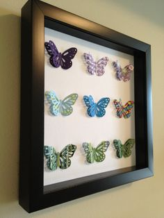 Purple Blue and Green Butterfly 3D Paper Art  perfect by PaperLine, $35.00