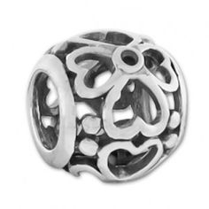 This Sterling Silver Heat Flower Carlo Biagi Mesh European Bead is a lovely way to decorate any European Charm Bead Bracelet. Made with fine quality sterling silver.