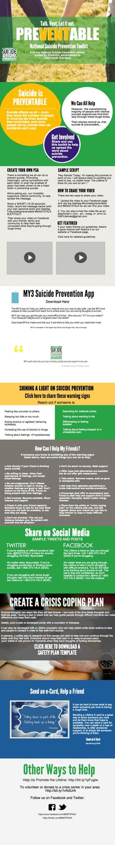 National Suicide Prevention Lifeline Toolkit | Piktochart Infographic Editor