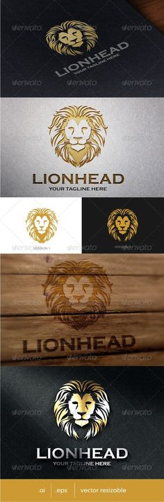 Buy Lion Head Logo by vaaroo on GraphicRiver. Lion head logo template suitable for businesses and product names. Leon Logo, Lion Head Logo, Royal Logo, Wild Logo, Sword Tattoo, Truck Stickers, Lion Painting, Gym Logo, Black Lion