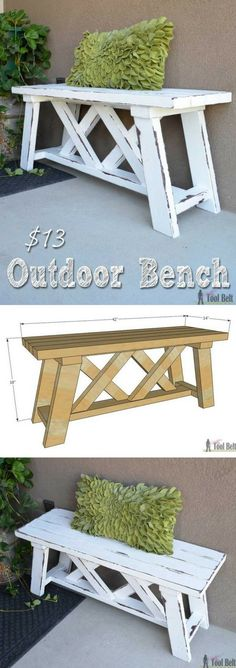 Check out the tutorial on how to make a DIY outdoor bench @istandarddesign (Diy Bench Seat)