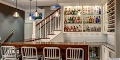 Home Bar Design Ideas. The great designs of portable home bars provide flexibility to move your bar home to any room in the summer. Cool Basement Ideas, Basement Bar Designs, Home Bar Designs, Rustic Basement, Modern Basement, Basement Bedrooms, Basement Bars, Basement Apartment, Basement Closet