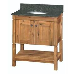 Home Decorators Collection Bredon 31 in. Vanity in Rustic Natural with Granite Vanity Top in Ubatuba-19CVBCU3122 at The Home Depot
