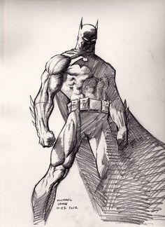 Drawn after Jim Lee's Batman just a few minor tweaks were made to the anatomy in the right shoulder, arm and leg. Batman (after Jim Lee) Jim Lee Batman, I Am Batman, Comic Book Artists, Comic Books Art, Comic Art, Batman Tattoo, Dc Comics, Gotham, Batman Kunst