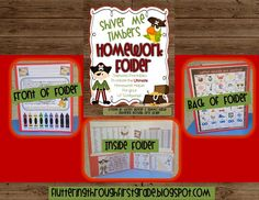Fluttering Through First Grade: Pirate Theme~ Make your own Homework Folders. Great resource for kids, parents and teachers. Classroom Projects, Classroom Themes, Classroom Activities, Reading Activities, Future Classroom, First Grade Organization, Teacher Organization, School Themes, School Ideas