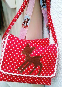 """Kindergartentaschen - Kindergartentasche """"Reh&Dots"""" - ein Designerstück von Little-Fashion bei DaWanda"""