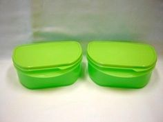 Tupperware Half Stackables Set of 2 Deli Food Container Green by Tupperware. $14.19. Tupperware set of 2. Lime Green. Stackables with seal. Tupperware stackables half set of containers green