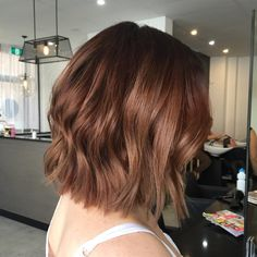 """Chestnut lob Have a wonderful day hair lovers  #hairbymikaylaz #hairandharlow #hairinspo @behindthechair_com @ohhellohair"""