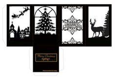 Christmas Ornament Template, Cricut Christmas Ideas, Christmas Window Decorations, Christmas Paper Crafts, Christmas Lanterns, Christmas Templates, Christmas Printables, Christmas Art, Christmas Projects
