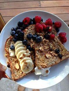 pin @aeslife ig @antonia.ae Food Porn, Tumblr Breakfast, Breakfast Toast, Breakfast Ideas, Perfect Breakfast, Breakfast Recipes, Morning Breakfast, Yummy Food, Good Food