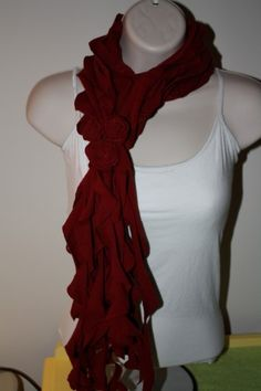 Upcycled t shirt scarf!