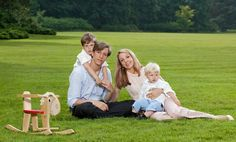 Prince Louis of Luxembourg and his wife Tessy Anthony, with his two sons, Gabriel and Noah