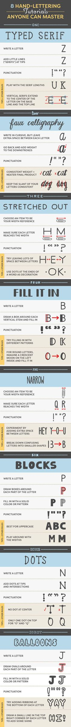 8 Easy Hand-Lettering Tutorials Anyone Can Master