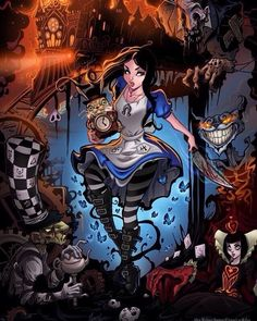 Dark disney art · alice liddell, rabbit hole, dark alice in wonderland, alice in wonderland pictures, Alice In Wonderland Artwork, Dark Alice In Wonderland, Alice In Wonderland Pictures, Wonderland Party, Alice Liddell, Alice Madness Returns, We All Mad Here, Art Harry Potter, Animation Disney