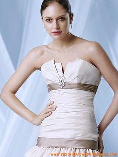 Cheap Designer Elegant Strapless Wedding Bridal Dresses