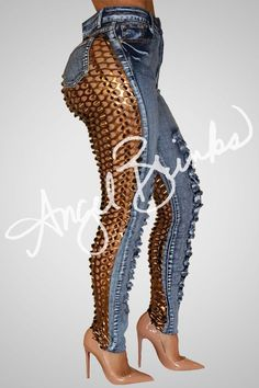 Sinister Jeans (Bronzed)… rare sexy and big beautiful leggings. Fashion Mode, Curvy Fashion, Look Fashion, Plus Size Fashion, Girl Fashion, Fashion Dresses, Womens Fashion, Fashion Trends, Maxi Dresses