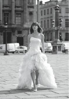 I love this high-low wedding dress! (with boots)