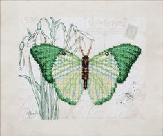 """Embroidery – Beads embroidery kit """"Butterfly"""" 26x22 – a unique product by VDV_Kiev on DaWanda"""