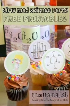 Girly Mad Science Party FREE Printables A Mind Blowing party