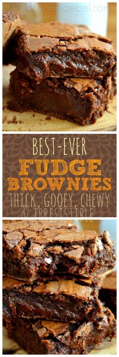Best Ever Fudge Brownies - these foolproof, supremely easy and SUPER fudgy brownies truly are the BEST!