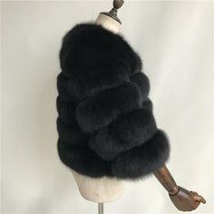 Luxurious 100% Genuine Thick Fox Fur Jacket Fox Fur Jacket, Fur Coat, Luxury, Casual, Leather, Jackets, Style, Fashion, Down Jackets